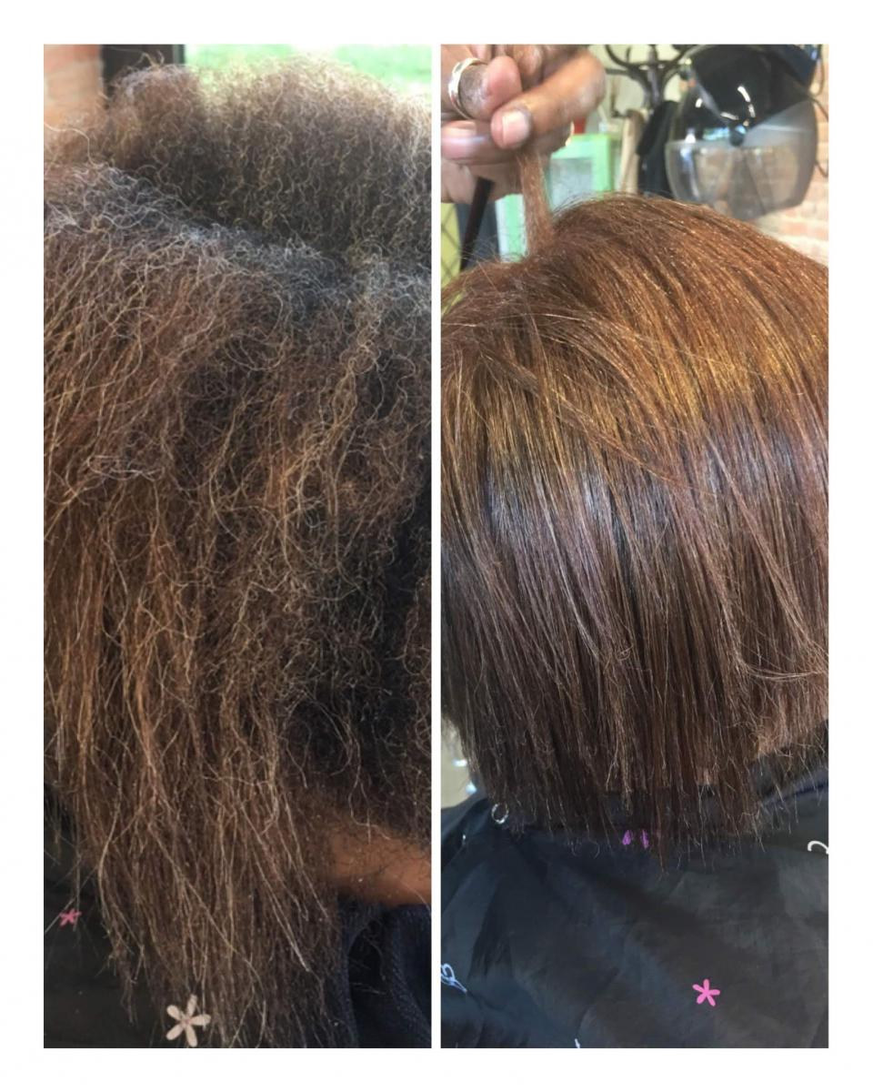 Le Lissage Brésilien Pink Afro Salon De Coiffure Afro à
