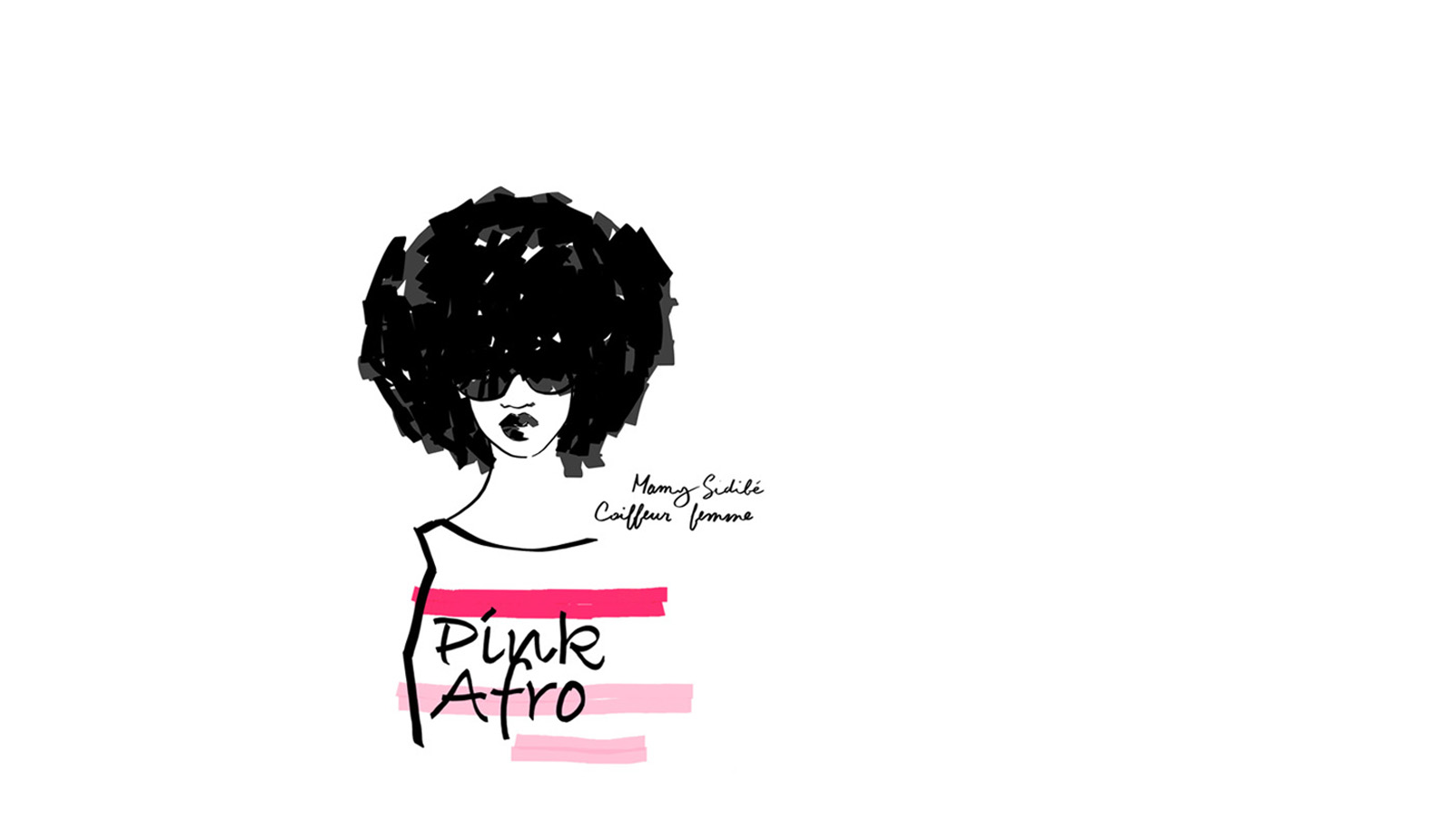 Pink Afro, Mamy Sidibé coiffeur femme afro